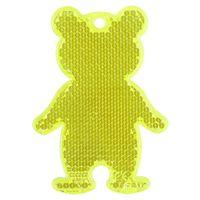 Пешеходный светоотражатель «Мишка», неон-желтый