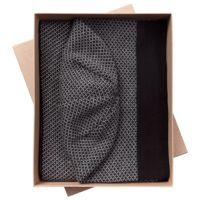 Набор Urban: шарф и шапка, черно-серый