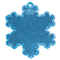 Пешеходный светоотражатель «Снежинка», синий