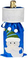 Мешок для шампанского «Дед Мороз», синий